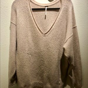 Free People Distressed Sweater